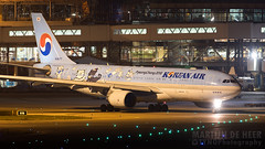 HL8227 (tynophotography) Tags: korean air a330 wearing pyeongchang2018 livery chang 2018 hl8227 pyeongchang pyeong winter olympics nightshot ams eham a330200 a332 p3