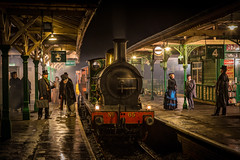 Victorian Horsted Keynes (Nimbus20) Tags: bluebellrailway sussex reenact victorian railway people night england heritage