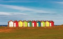 By the North Sea (bożenabożena) Tags: sea april colour sky northsea beachhoses england 2018 morze kwiecień kolory niebo morzepółnocne anglia