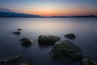 Blue hour at lake Konstanz