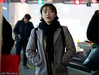 `2204 (roll the dice) Tags: london blackfriars thameslink platform passenger lights colour asian korean people natural reaction sexy pretty girl eyes fashion tourism tourists canon unaware unknown urban portrait candid stranger england uk art classic travel trains cold weather ec4 city station scarf happy sad bored time snow fun funny look