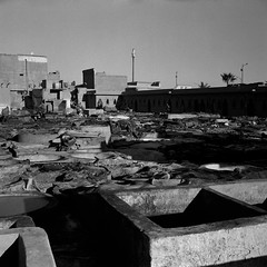Marrakech Tannery 5 (AnniversaryRoad) Tags: 120 120film 400 400asa 400iso 75mm africa arab bw kodak kodaktrix maghreb marrakech marrakesh moroccan morocco trix analog analogphotography analogue black blackandwhite desert film filmgrain filmphotography labor labour leather mamiya mamiya6 medina mediumformat monochrome morning offthebeatenpath outdoor outdoors outside rangefinder sky smell souk souq street streetphotography tanner tanneries tanners tannery traditional white workers