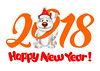 Happy dog (dinhhblt) Tags: dog cartoon pet funny puppy vector 2018 icon logo lettering emblem symbol new year christmas santa hat design greeting card poster banner flyer template layout animal art isolated china chinese calendar horoscope cheerful creative cute happy amusing emotion joy smile face friend mammal playful terrier sitting comic drawing colorful