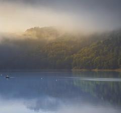 Jezioro Rożnowskie (kubaszymik) Tags: sunrise reflection lake gródek dunajec canon fog foggy mood moody mist misty morning dawn