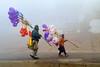 Varanasi in the Morning Mist (pallab seth) Tags: varanasi people devotee tradition morning prayer ritual ganga river holydip banaras benaras india ganges religion religious belief traditional culture asia hindu hinduism bathing candid winter fog mist