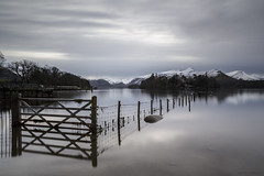 The Gate (andyrousephotography) Tags: lakedistrict keswick derwentwater lake water gate fence winter cold snow crisp longexposure leefilters ndgrads 10stops bigstopper andyrouse canon eos 5d3 5dmkiii ef24105mmf4l