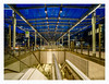light & lines (K.H.Reichert [ not explored ]) Tags: staircase night treppe bluehour nürnberg airport forms architektur blauestunde germany albrechtdürer deutschland linien lines nightshot nachtfoto