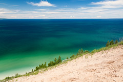 Pyramid Point Big Blue View (matthewkaz) Tags: lakemichigan lake water greatlakes pyramidpoint leelanau island summer sand sleepingbear sleepingbeardunes sanddunes sleepingbeardunesnationallakeshore michigan 2017