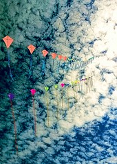 Kites in Broken Sky (CosmoClick) Tags: sky kites clouds cosmoclick wow
