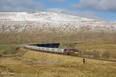The Lone Photter (John_Hales) Tags: ribblehead preston rail railway train trains settle carlisle class66 ews dbs dbcargo locomotive bleamoor networkrail cumbria 66111