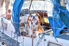 Relax WinstOn, it`s only me....................... (alundisleyimages@gmail.com) Tags: britishbulldog liverpoolmarina yacht dog pet domesticanimal guard pose cabin craft sailing steeringwheel liverpool portsandharbours ropes deck weather sunshine daylight