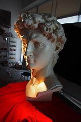 P2020141 (photos-by-sherm) Tags: michelangelo bust david replica cameron art museum wilmington nc pancoe center winter spotlight floodlights kissing
