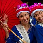 Thai Ladies with Umbrella at Flower Festival Parade 180 thumbnail