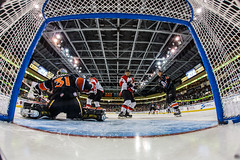 """Kansas City Mavericks vs. Cincinnati Cyclones, February 3, 2018, Silverstein Eye Centers Arena, Independence, Missouri.  Photo: © John Howe / Howe Creative Photography, all rights reserved 2018. • <a style=""""font-size:0.8em;"""" href=""""http://www.flickr.com/photos/134016632@N02/39407450014/"""" target=""""_blank"""">View on Flickr</a>"""