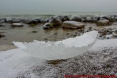 Binzer Steinstrand (Stefan's Gartenbahn) Tags: binz rügen binzersteinstrand steine schnee eis eiskruste ostsee meer natur wasser urlaub winter frost lachsbrötchen strand wasserkran rasenderroland rasender roland schmalspurbahn rübb dr rügenschebäderbahn mh br99 9946336 994632