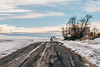 Winter Hunt (Pedalhead'71) Tags: lincolncounty washington dirtroad rural abandoned gravel winter snow desert landscape