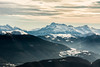 The Belledonne Mountains (IanCoates94) Tags: lensenvercors belledonnes snow mountains snowcapped france french alps mountainrange grenoble isere rhonealpes winter telephoto nikon d7100 layers mist clouds