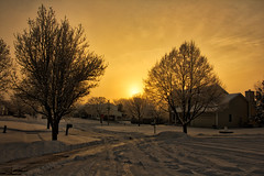 Winter's Glow (Gregg Kiesewetter) Tags: winter snow sunrise winterscene landscape illinois normal normalillinois mcleancounty bloomington bloomingtonnormal hdr aurorahdr2018