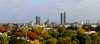 """""""The Summit City, 2014"""" (D A Baker) Tags: fort wayne downtown fall foliage landscape panorama panoramic pnc bank one summit square aep building lincoln tower preash trees general electric ge best view urbex urban explore indiana fujifilm x100s clouds cityscape skyscraper church cathedral st pauls trinity english lutheran"""