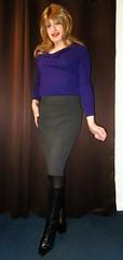 Reserved Space (Amber :-)) Tags: grey pencil skirt tgirl transvestite crossdressing