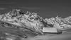 Un Hiver au Pays d'Olle (N/B) (Frédéric Fossard) Tags: mountain landscape monochrome noiretblanc blackandwhite neige snow snowcapped chalet cottage vallon vallée combe valley cimes crêtes arêtes picdemontage alpes savoie maurienne belledonne colduglandon coldelacroixdefer mountainpeaks mountainside flancdemontagne calme solitude hiver winter mountainridge mountainrange horspiste sauvage nature