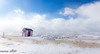 Leaning (maureen.elliott) Tags: saublebeach lakehuron shoreline snow ice winter landscape hut building crooked leaning sand