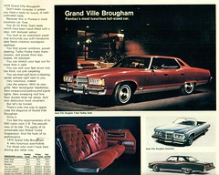1975 Pontiac Grand Ville Brougham 4 Door Hardtop (coconv) Tags: car cars vintage auto automobile vehicles vehicle autos photo photos photograph photographs automobiles antique picture pictures image images collectible old collectors classic ads ad advertisement postcard post card postcards advertising cards magazine flyer prestige brochure dealer 1975 pontiac grand ville brougham 4 door hardtop 75 interior