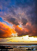 In The Beginning (lorinleecary) Tags: california cambria clouds ocean sunsets waves blue drama grey horizons red