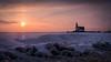"Winter morning (Ralph Rozema) Tags: ""paardvanmarken"" ice winter sunrise holanda netherlands markermeer ijsselmeer marken lighthouse"