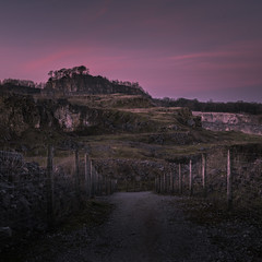 Going Down, Looking Up (Photo Lab by Ross Farnham) Tags: derbyshire landscape ross farnham sony a7rii 2470mm zeiss lee filters quarry path sunset pink
