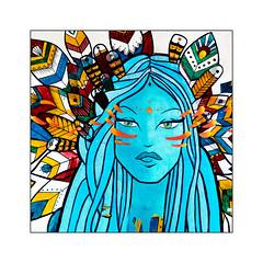 l'indienne (Jean-Louis DUMAS) Tags: street art rue artist artistic artistique artiste peinture murale peintre artdelarue streetart