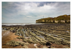 Lines in the sand (urfnick) Tags: eos canon 1300d yorkshire coast beach cliffs sea ocean waves clouds sky rocks erosion