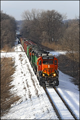 BNSF 2257 (Justin Hardecopf) Tags: bnsf burlingtonnorthernsantafe 2257 emd gp382 local freight councilbluffs iowa railroad train