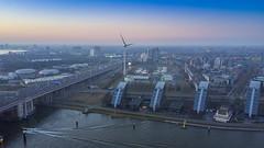 DJI_0390-HDR BBkl (keesoosterwijk) Tags: mavic mavicpro drone dronephotography hdr hdrphotography rotterdam roffa 010 brienenoord brienenoordbrug mavicdrone maas sunset sky droneshot