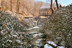 Mill Stream (DaveLawler) Tags: moore park paxton massachusetts newengland cold winter water trees sunrise river statepark worcester