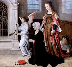 IMG_2138A Jan Van Coninxloo II 1489-1555 Bruxelles Sainte Catherine présente une donatrice. Saint Catherine presents a donor woman Rouen Musée des Beaux Arts (jean louis mazieres) Tags: peintres peintures painting musée museum museo france normandie rouen muséedesbeauxarts janvanconinxlooii