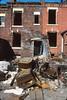 Leeds backstreet, demolition, 1983 (Richard Xe) Tags: leeds demolition rubbish backtoback terraced housing redbrick