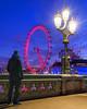 Lamp And Double I (JH Images.co.uk) Tags: london eye lamp post blue hour twilight westminsterbridge bridge sky night hdr dri