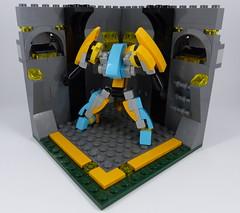 Crocuta in a Box (phayze81) Tags: mech mecha robot mfz mf0 mobileframezero mobileframe microscale lego moc scifi sciencefiction legophotography toyphotography biped humanoid