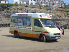 NC55MOU Polzeath 7-8-13 (marktriumphman) Tags: mercedes ice cream polzeath
