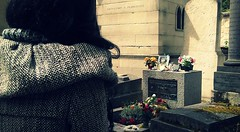"""Mr. Mojo Risin"" (Bojana Neskovic) Tags: paris france travel cemetery music doors jimmorrison morrison"