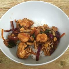 Chicken stir fry on rice - #chicken #chickenstirfry #rice #food #foodquota (TenguTech) Tags: ifttt instagram