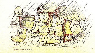 When rainy March winds do blow, our Kewpies under Toadstools go !