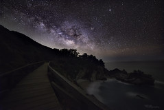Milky Way over Mcway Falls (jothish_gr) Tags: mcway falls waves water westcoast ocean pacificocean sea dramaticsky sky horizon nightscape nightphotogrpahy night galaxy milkyway stars planets beach shore highway1 california travel nikon d750 bigsur darksky glittering