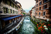 River in Annecy, France (` Toshio ') Tags: toshio annecy france europe french lethiouriver river water oldtown people flowers city village restaurant bridge fujixe2 xe2 architecture
