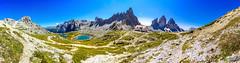Naturpark Sextner Dolomiten (Markus Lenz) Tags: 3zinnen bauwerkegebã¤ude berge bergsee bildformat diewelt europa fotografie gebirge italien kapelle naturlandschaft orte orteallgemein panorama panoramastitch sakralbauten see unterkunft wasser südtirol unterkünfte bergütte 3zinnenhütte
