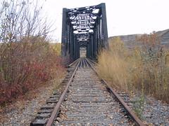 Midland ... Tracks Less Travelled (Mr. Happy Face - Peace :)) Tags: art2018 tracks railway midland drumheller albertabound canada bridge