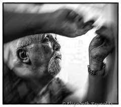 Day 35. (lizzieisdizzy) Tags: blackandwhite blackwhite black whiteandblack white whiteblack worker work working monochrome mono monotone monochromatic male man chromatic frame framed carpenter screwdriver tools elderlyman