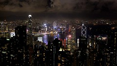 Victoria Harbour (oxfordblues84) Tags: hongkong peoplesrepublicofchina china oat overseasadventuretravel victoriapeak victoriapeakhongkong skyline buildings architecture night evening afterdark hongkongskyline hongkongarchitecture nightsky sky nightlights victoriaharbour bankofchinatower bankofchina impei impeipartners mountaustin thepeak clouds 5photosaday city