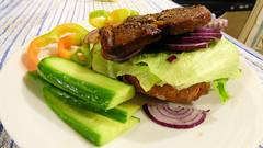 Just a simple, home-cooked dinner (Sandy Austin) Tags: panasoniclumixdmcfz70 sandyaustin massey westauckland auckland northisland newzealand food steak salad homecooking airoven airfryer